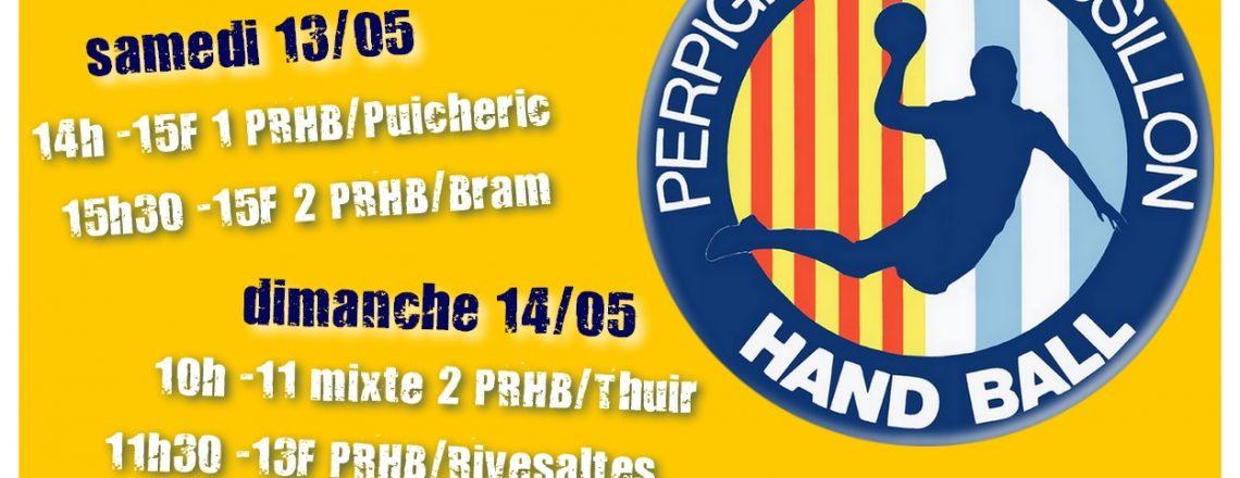 Matchs à domicile ce week-end 13/05