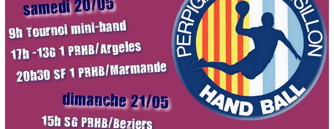 Matchs à domicile ce week-end 20/05